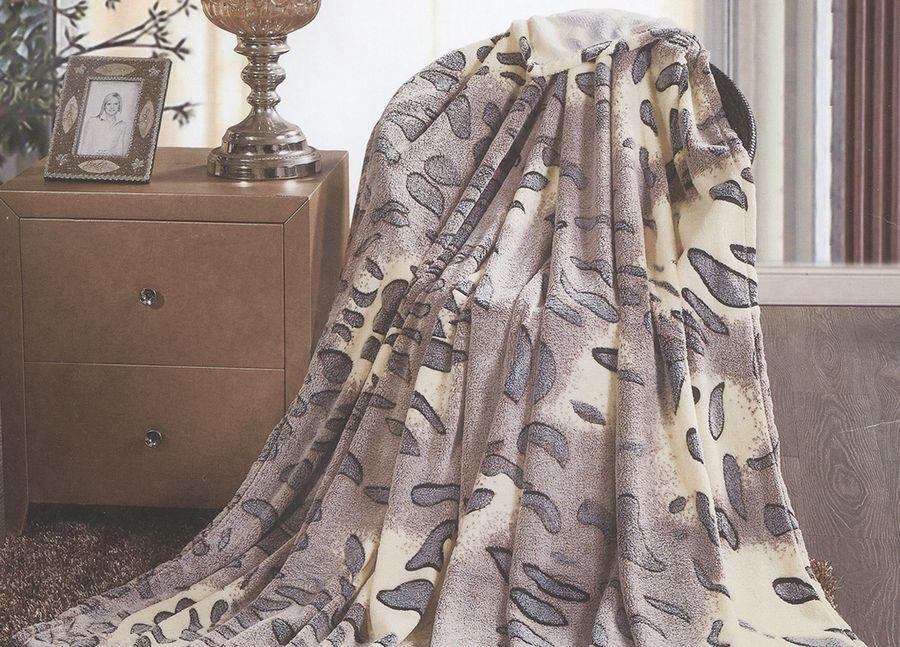 Плед ТД Текстиль Absolute, цвет: серый, 150 х 200 см. 8956889568
