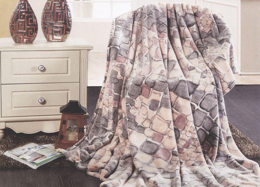 Плед ТД Текстиль Absolute, цвет: коричневый, 200 х 220 см. 89570 absolute absolute плед мишки 150х200 см