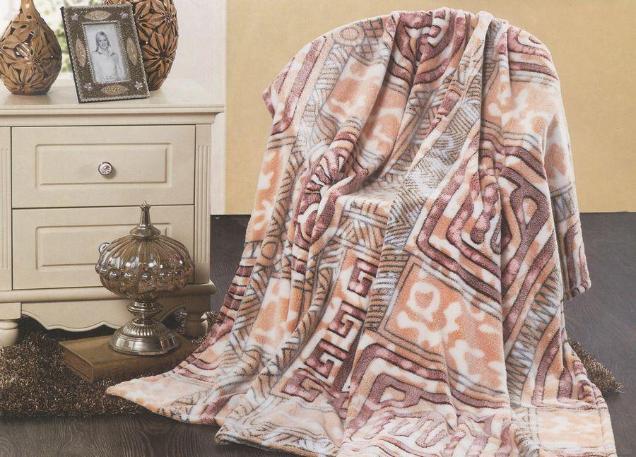 Плед ТД Текстиль Absolute, цвет: коричневый, 200 х 220 см. 89573