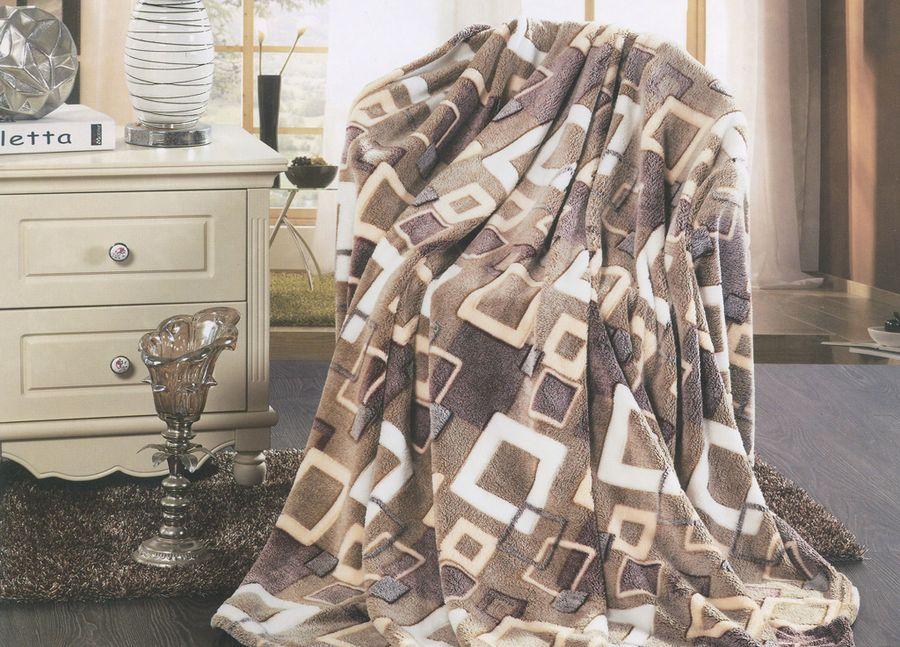 Плед ТД Текстиль Absolute, цвет: серый, 200 х 220 см. 8957489574