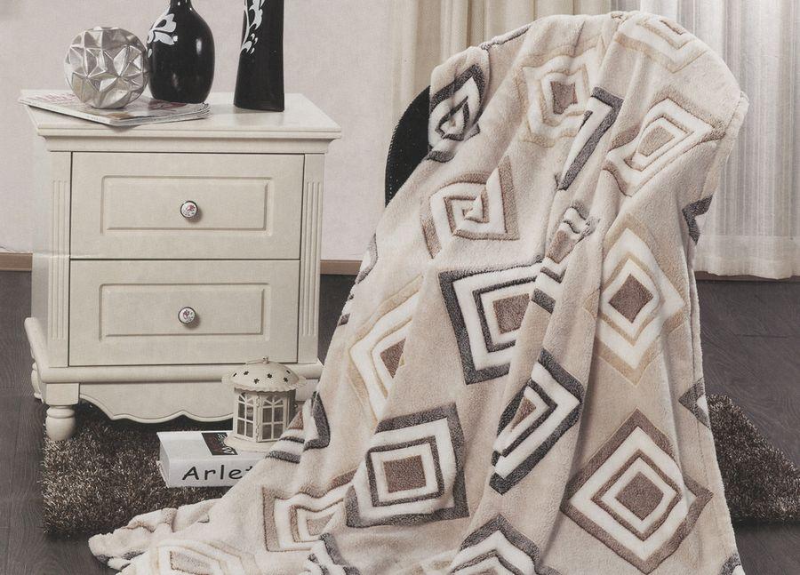 Плед ТД Текстиль Absolute, цвет: серый, 200 х 220 см. 8957589575