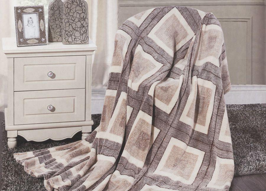 Плед ТД Текстиль Absolute, цвет: серый, 200 х 220 см. 8957689576