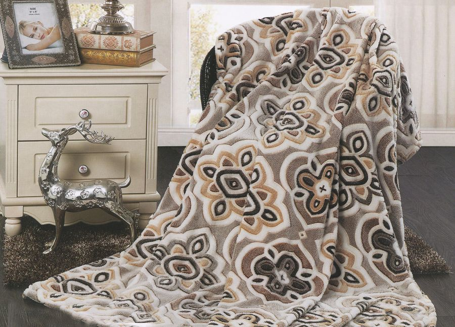 Плед ТД Текстиль Absolute, цвет: серый, 200 х 220 см. 8957889578