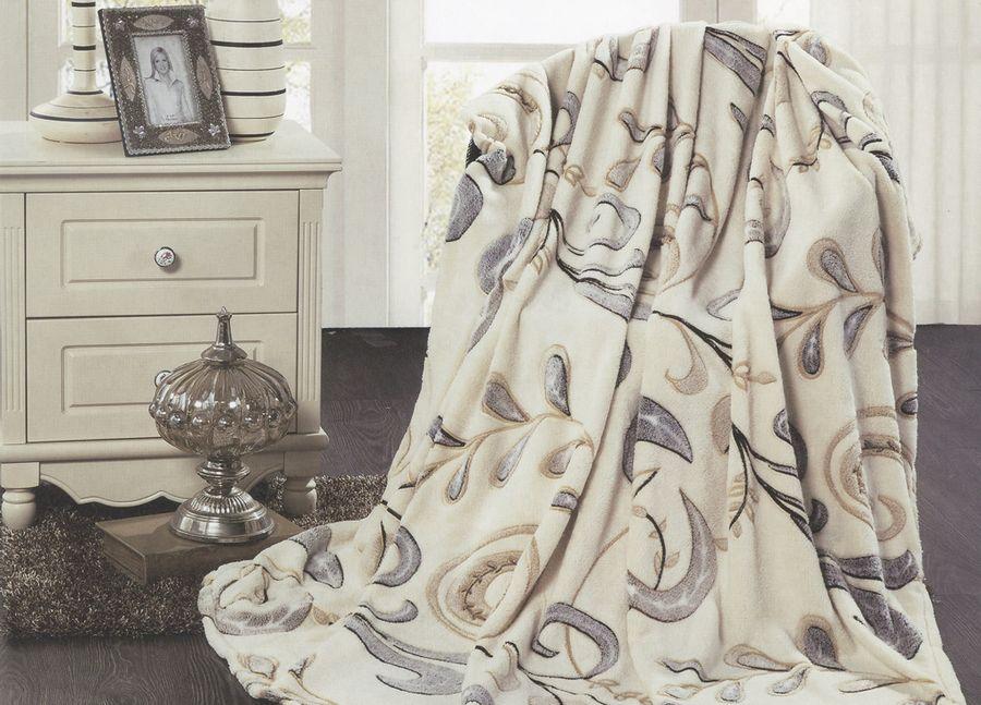 Плед ТД Текстиль Absolute, цвет: бежевый, 200 х 220 см. 89580