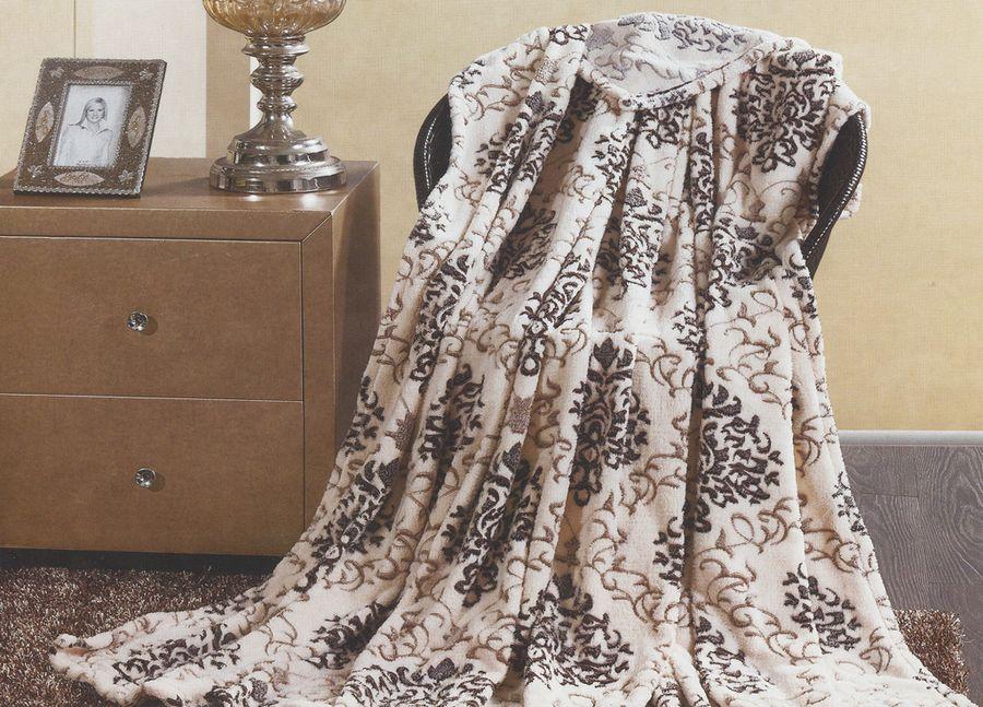 Плед ТД Текстиль Absolute, цвет: бежевый, 200 х 220 см. 8958189581