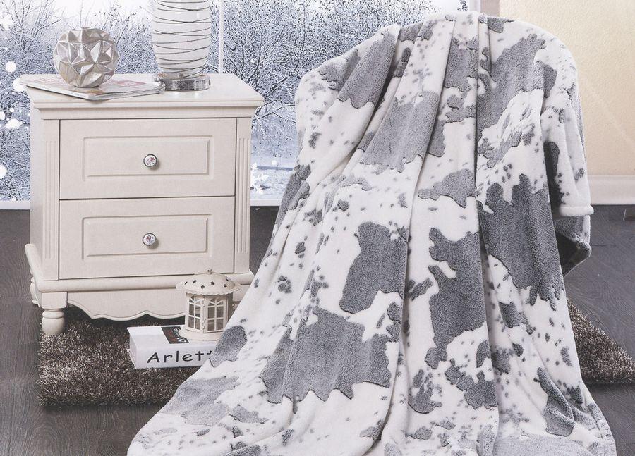 Плед ТД Текстиль Absolute, цвет: серый, 200 х 220 см. 89582
