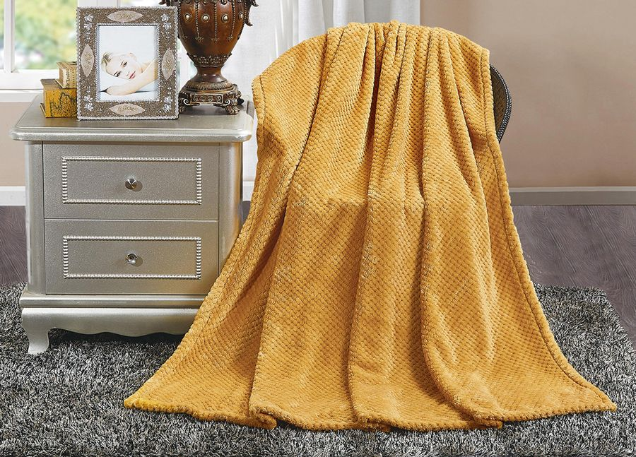 Плед ТД Текстиль Absolute, цвет: песочный, 180 х 220 см90354