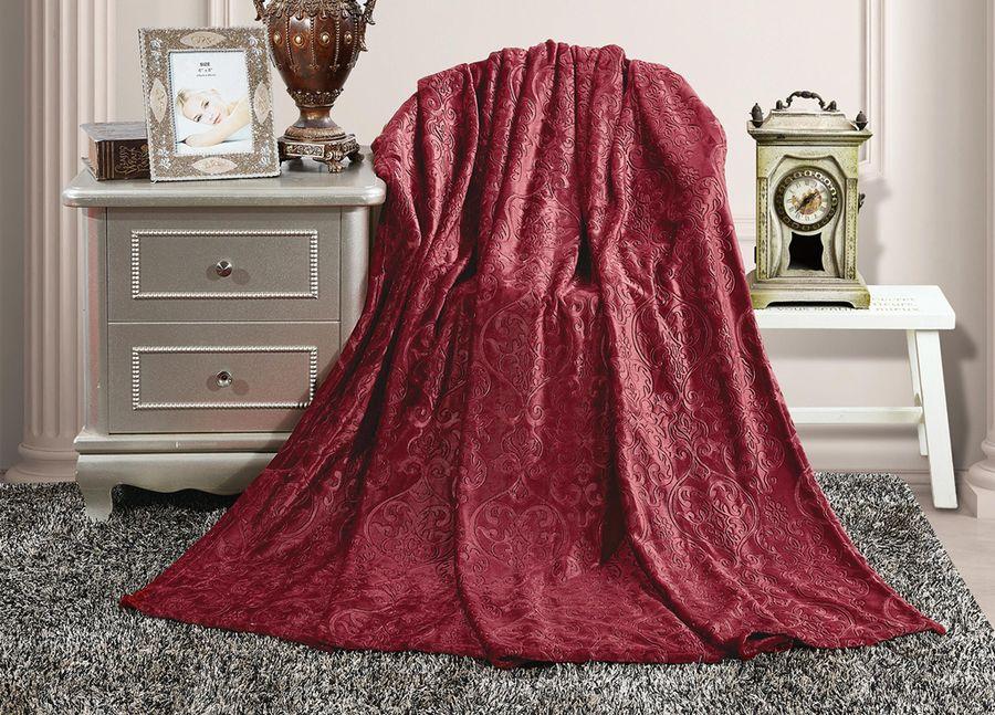 Плед ТД Текстиль Absolute, цвет: бордовый, 150 х 200 см. 90388