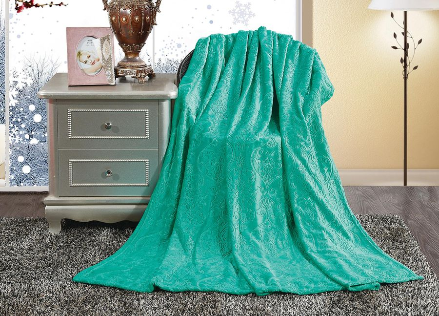 Плед ТД Текстиль Absolute, цвет: изумрудный, 180 х 220 см. 9039290392