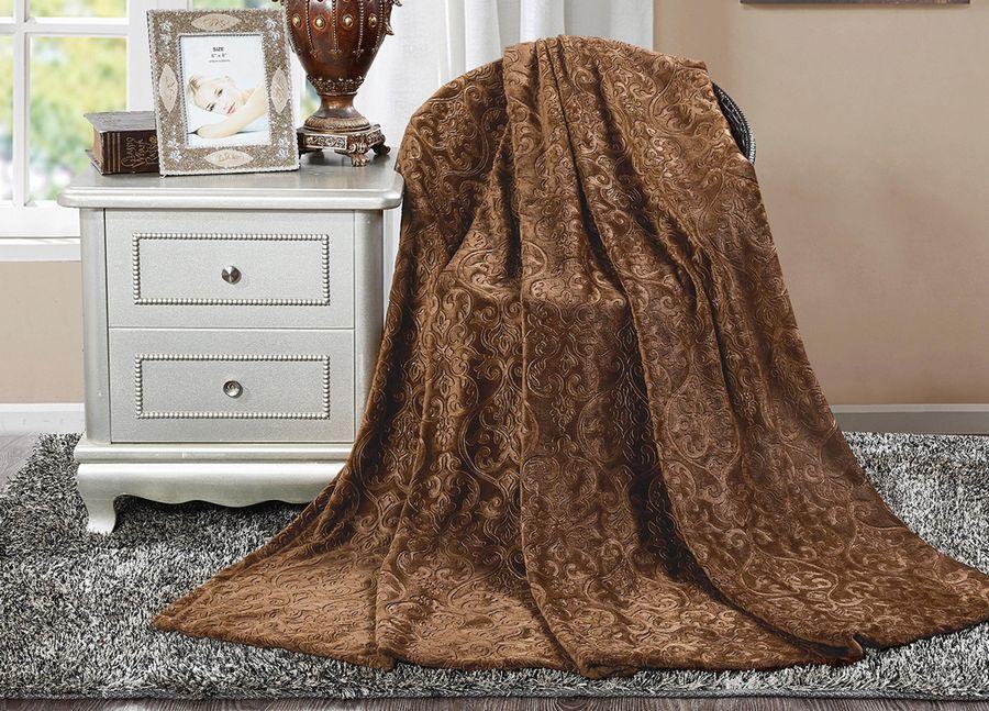 Плед ТД Текстиль Absolute, цвет: коричневый, 180 х 220 см. 90393 плед тд текстиль absolute цвет серый 150 х 200 см 89560