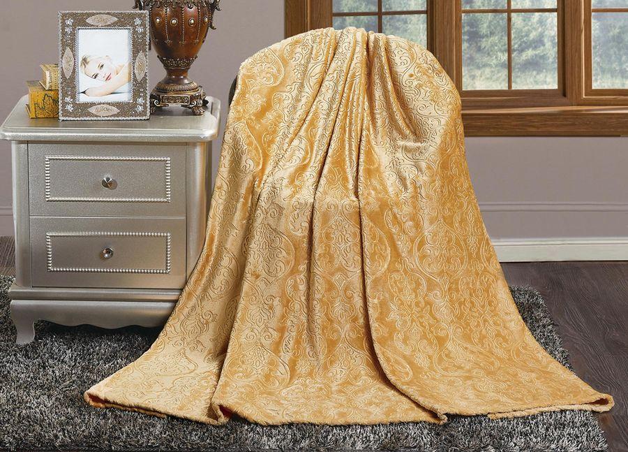 Плед ТД Текстиль Absolute, цвет: песочный, 150 х 200 см. 91747 плед absolute цвет голубой 150 х 200 см 65695