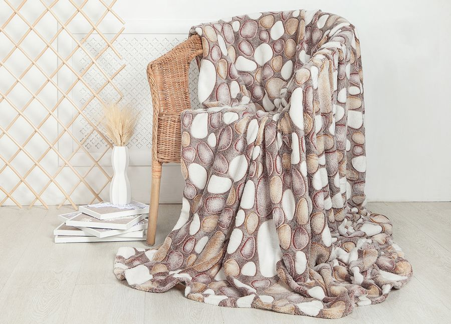 Плед ТД Текстиль Absolute, цвет: бежевый, молочный, 150 х 200 см. 9251592515