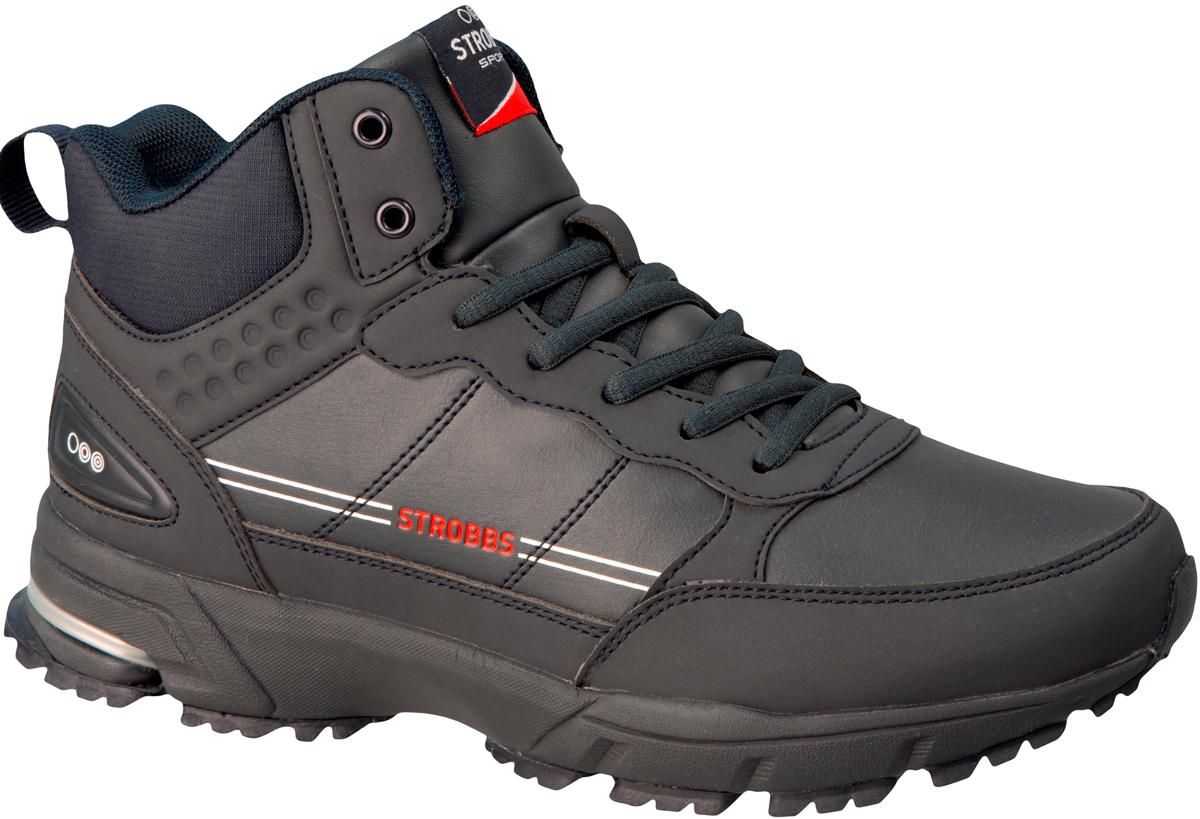Ботинки мужские Strobbs, цвет: синий, серый. C9083-2. Размер 41C9083-2Стильные ботинки от Strobbs придутся вам по душе. Модель, изготовленная из искусственной кожи, оформлена прострочкой, фирменной нашивкой на язычке и сбоку тиснением в виде логотипа бренда. Подкладка и стелька из искусственного меха не дадут ногам замерзнуть. Шнуровка надежно фиксирует модель на ноге. Ярлычок на заднике облегчает надевание. Подошва с рифлением гарантирует идеальное сцепление на любой поверхности. Стильные и удобные ботинки - необходимая вещь в вашем гардеробе.