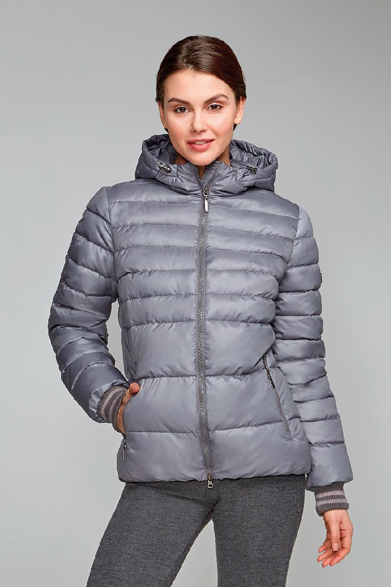 Куртка женская Grishko, цвет: серый. AL - 3290. Размер 48AL - 3290Стильная молодежная куртка с прорезными карманами на молниях и глубоким капюшоном. Рукава укреплены спортивными полосатыми манжетами. Микрофайбер - это утеплитель нового поколения, который отличается повышенной теплоизоляцией, антибактериальными свойствами, долговечностью в использовании, необычайно легок в носке и уходе. Изделия легко стираются в машинке, не теряя первоначального внешнего вида. Комфортная температура носки до минус 10 градусов.