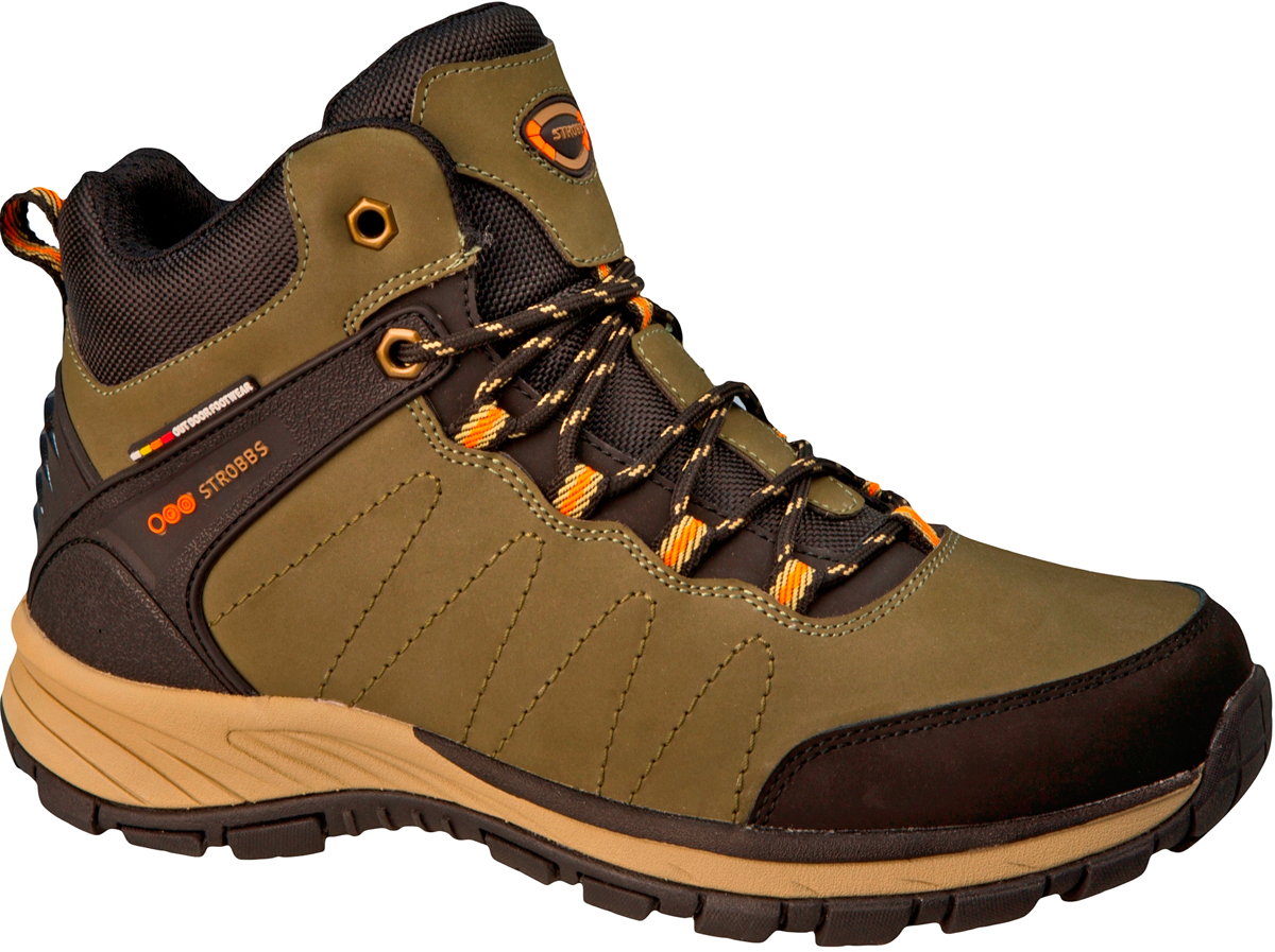 Ботинки мужские Strobbs, цвет: хаки. C9098-19. Размер 44C9098-19