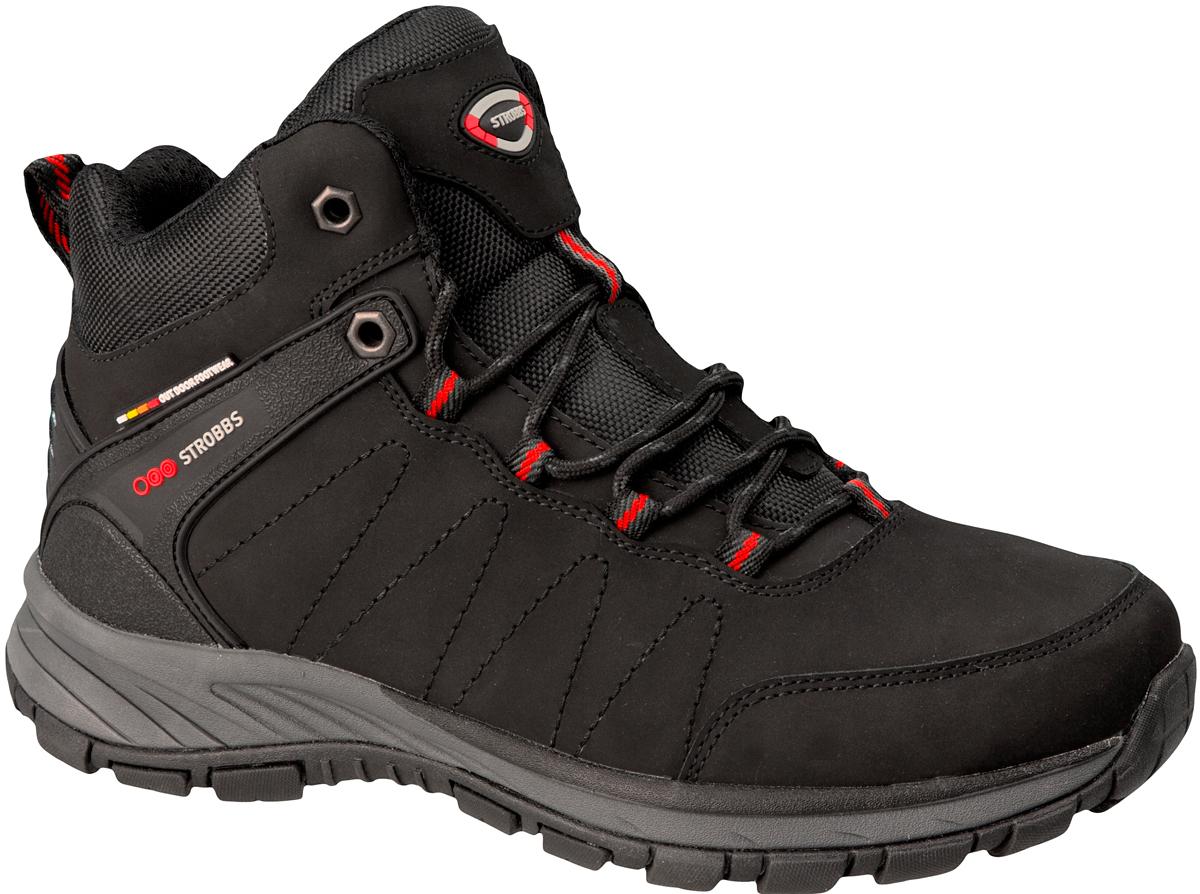 Ботинки мужские Strobbs, цвет: чeрный. C9098-3. Размер 43C9098-3