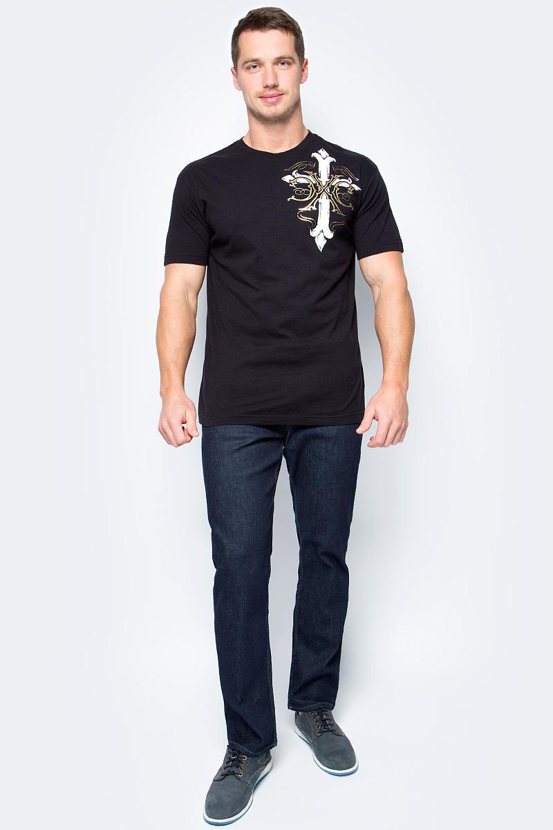Футболка мужская Affliction Xtreme Couture Annuit, цвет: черный. X141. Размер 2XL (54) футболка мужская affliction xtreme couture inhuman skulls цвет бежевый x1384 размер 3xl 56