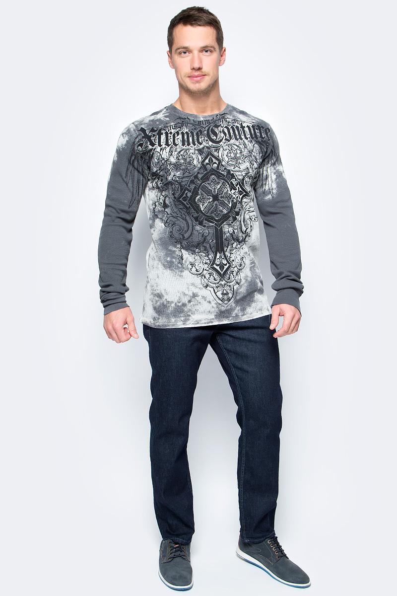 Лонгслив мужской Affliction Xtreme Couture Ultra Mega, цвет: серый. X1576. Размер XL (52)X1576Лонгслив мужской Affliction Xtreme Couture Ultra Mega выполнен из натурального хлопка. Модель с круглым вырезом горловины и длинными рукавами оформлена оригинальным принтом.