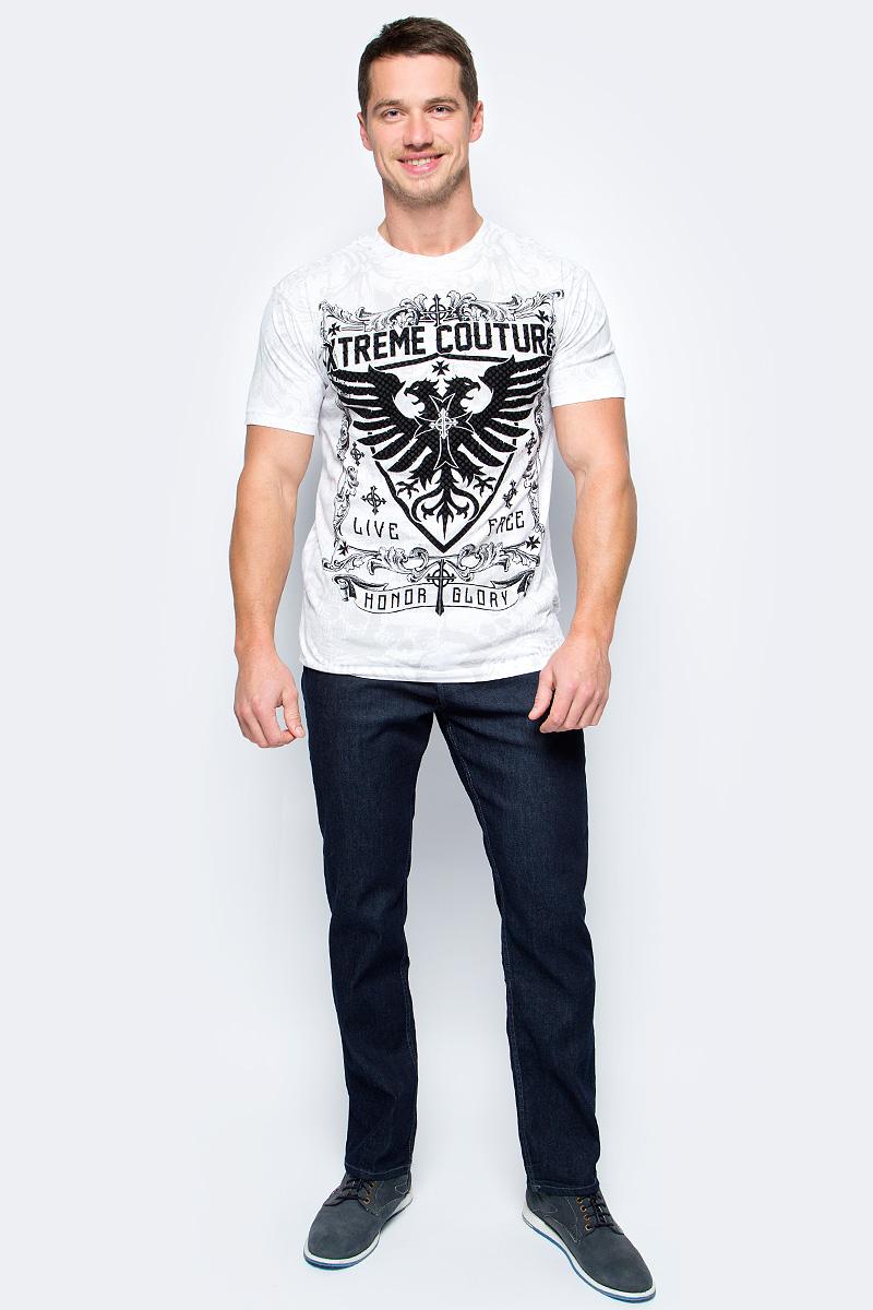 Футболка мужская Affliction Xtreme Couture Phoenix, цвет: белый. X1511. Размер L (50)X1511Футболка мужская Affliction выполнена из натурального хлопка. Модель с круглым вырезом горловины и короткими рукавами оформлена оригинальным принтом.