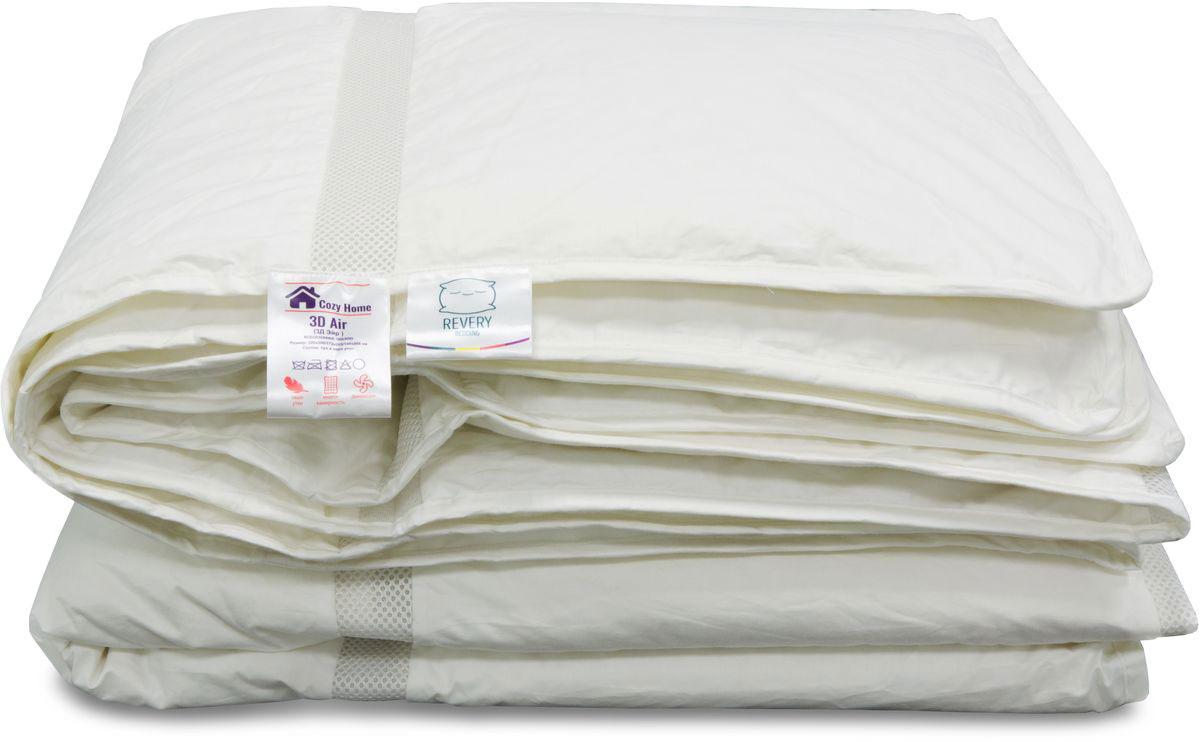 Одеяло Revery 3D Air, наполнитель: пух, цвет: белый, 220 см х 200 смOD.200*220.3DAIRВсесезонное одеяло. Наполнитель из пуха сохраняет тепло и обеспечивает свободную циркуляцию воздуха, создавая тем самым оптимальный микроклимат для сна. Приятный на ощупь материал чехла выполнен из натурального хлопока.