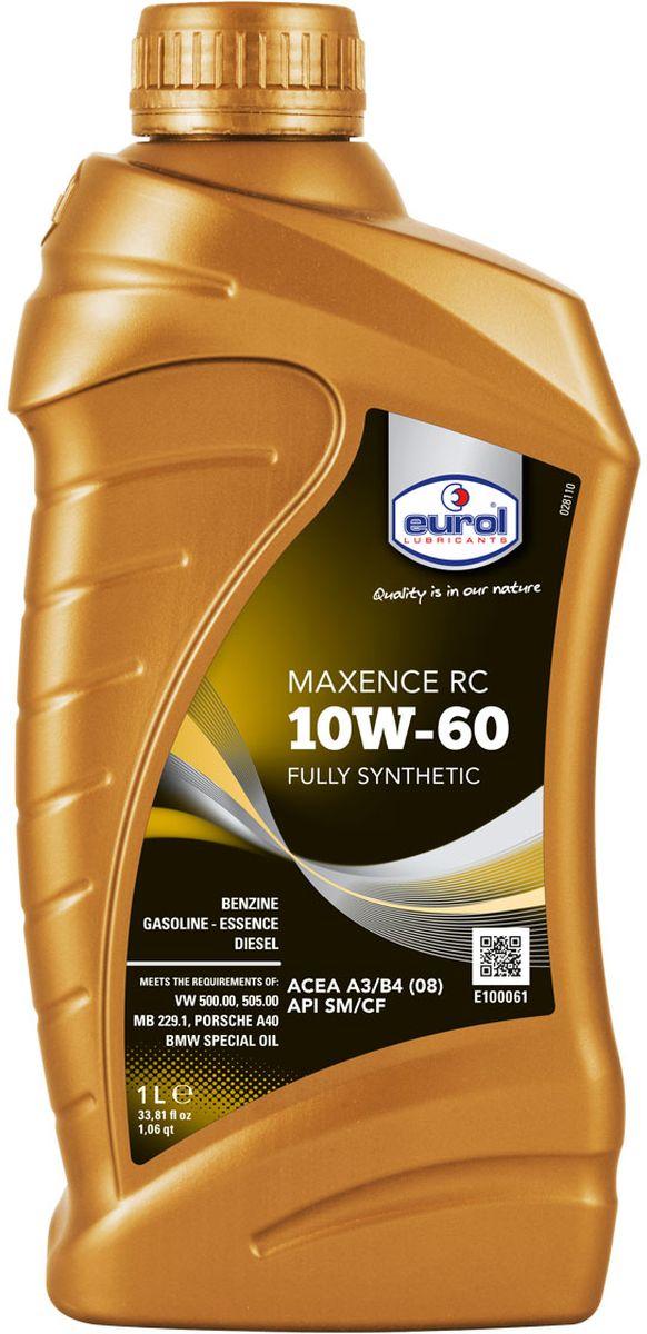 Масло моторное Eurol Maxence RC, синтетическое, 10W-60, 1 лE100061-1l_1Моторное масло Eurol Maxence RC 10W-60 Полностью синтетическое ультрасовременное моторное масло для бензиновых, LPG и дизельных двигателей легковых автомобилей и легкого коммерческого транспорта. Это моторное масло специально разработано для гонок и ралли. Специальный пакет присадок образует стабильную смазывающую пленку, защищая детали от износа даже при экстремальных нагрузках в условиях спортивной эксплуатации. Обладает высокой стойкостью к окислению и термической стабильностью, эффективно защищает от образования отложений, коррозии и нагара. API SM/CF ; ACEA A3/B4 (08) ; VW 50000 ; VW 50500 ; MB 229.1