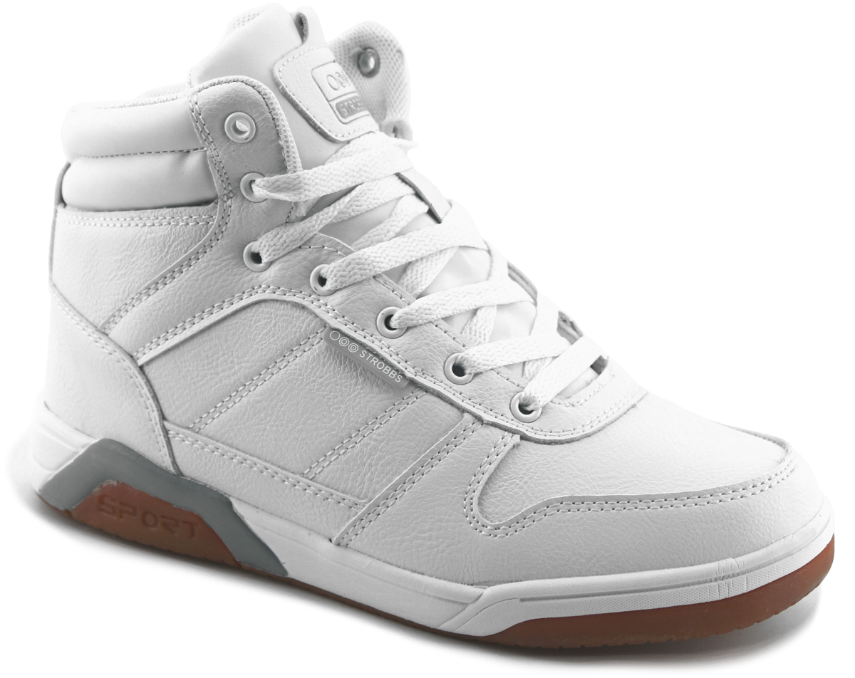 Кроссовки мужские Strobbs, цвет: белый. C9092-6. Размер 43C9092-6Стильные мужские кроссовки Strobbs отлично подойдут для повседневной носки. Верх модели выполнен из искусственной кожи. Изделие оформлено прострочкой и фирменной нашивкой на язычке. Удобная шнуровка надежно фиксирует модель на стопе. Подкладка и стелька из искусственного меха, не дадут ногам замерзнуть. Подошва с рифлением гарантирует идеальное сцепление на любой поверхности. Мягкие и удобные кроссовки превосходно подчеркнут ваш спортивный образ.