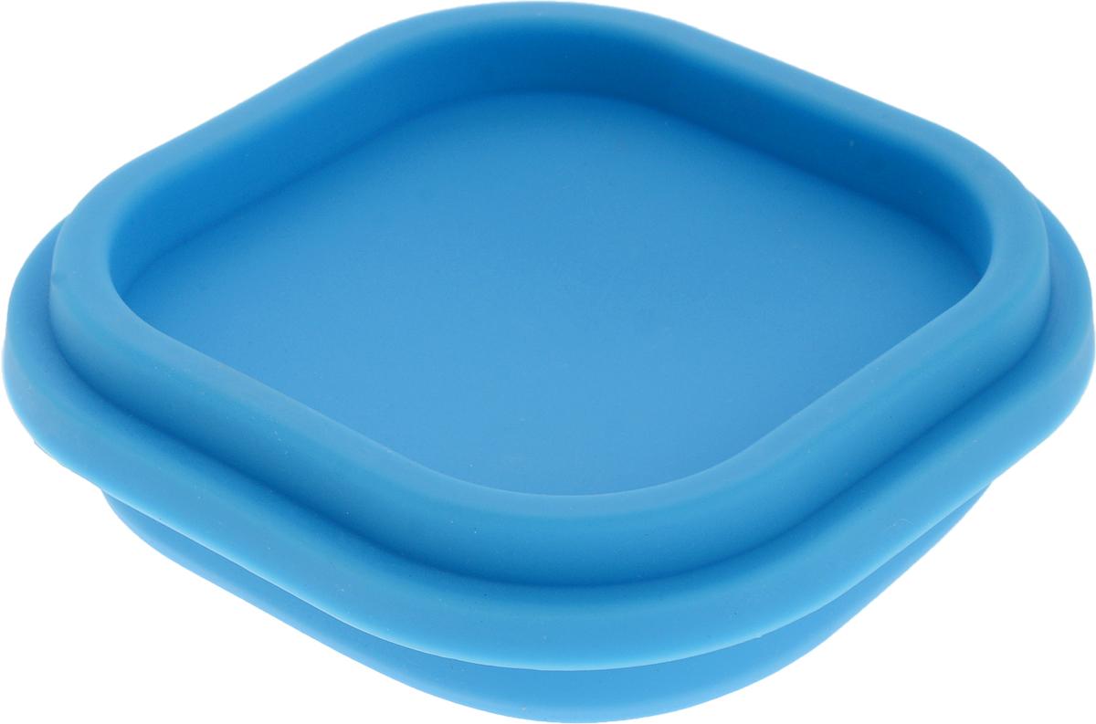 Контейнер пищевой Доляна Клэр, складной, цвет: голубой, 10 х 10 х 6 см861126_голубойСкладной контейнер Доляна Клэр выполнен из качественного пищевого силикона и снабжен герметично закрывающейся пластиковой крышкой с прокладкой. Вы можете смело брать с собой на работу, в дорогу или на пикник самую разнообразную еду: силикон сохранит первозданные вкус и аромат продуктов. Кроме того он отличается гладкостью и термостойкостью, что дает важные преимущества.Подходит для использования в духовом шкафу, морозильной камере, можно мыть в посудомоечной машине.Размер в сложенном виде: 10 х 10 х 3 см.
