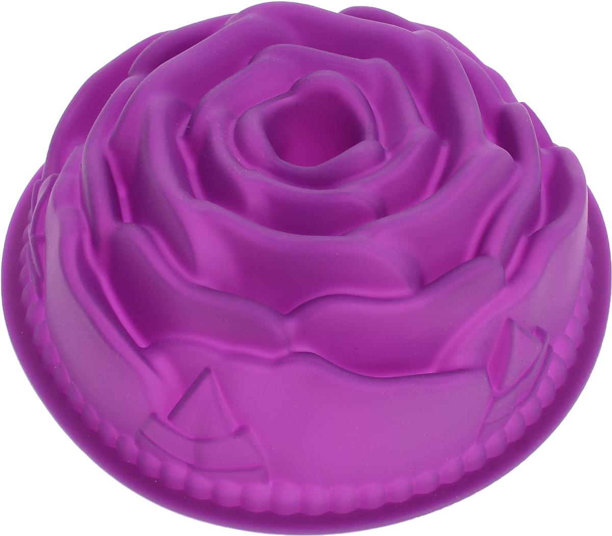Форма для выпечки Доляна Роза, цвет: фиолетовый, 11 х 11 х 4 см549313_фиолетовыйСиликоновая форма для выпечки Доляна - современное решение для практичных и радушных хозяек. Оригинальный предмет позволяет готовить в духовке любимые блюда из мяса, рыбы, птицы и овощей, а также вкуснейшую выпечку.Блюдо сохраняет нужную форму и легко отделяется от стенок после приготовления;высокая термостойкость (от -40 до 230 С) позволяет применять форму в духовых шкафах и морозильных камерах;небольшая масса делает эксплуатацию предмета простой даже для хрупкой женщины;силикон пригоден для посудомоечных машин;высокопрочный материал делает форму долговечным инструментом;при хранении предмет занимает мало места.