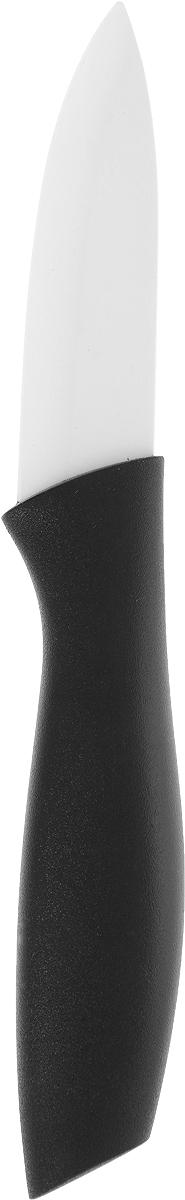 Нож Доляна Мастер, керамический, цвет: черный, длина лезвия 7,5 см. 833159833159_черныйУдобный керамический нож Доляна Мастер станет отличным подспорьем в готовке для каждого увлеченного повара.Преимущества:- Керамический нож удобен и легок в использовании;- Нож легко моется, требует минимального ухода;- Удобная ручка из пластика предохраняет руки от усталости.Правила ухода:перед первым применением нож необходимо тщательно промыть в горячей воде с добавлением чистящего средства;производите чистку ножа после каждого использования;не используйте абразивные моющие средства и металлические губки;перед тем, как убрать нож на хранение, обязательно протрите его сухим полотенцем.Длина лезвия: 7,5 см.Общая длина ножа: 17 см.