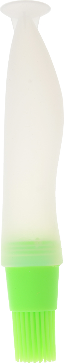 Кисть кулинарная Доляна Фобос, с резервуаром для масла и присоской, цвет: салатовый, 17 х 4 см178105_салатовыйКисть Доляна Фобос, выполненная из силикона, помогает быстро смазать выпечку глазурью, яйцом или кремом, нанести масло на сковороду или противень. Отличительная черта кисти - наличие емкости для масла. Больше не нужно многократно промасливать приспособление: процесс подготовки блюда или противня займет значительно меньше времени, а пол и стол останутся чистыми. При помощи такой кисти точно дозировать нужное количество масла сможет даже начинающий кулинар. Разрешено мыть в посудомоечной машине.