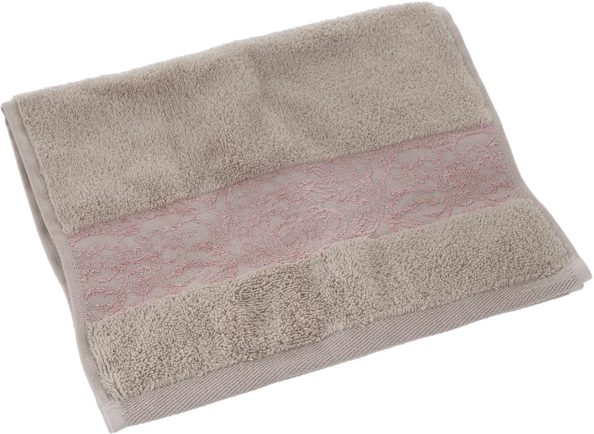 Полотенце Arya Jewel, цвет: песочный, 30 x 50 смTR1002165_ПесочныйПолотенце Arya Jewel выполнено из хлопка. Изделие отлично впитывает влагу, быстро сохнет, сохраняет яркость цвета и не теряет форму даже после многократных стирок. Такое полотенце очень практично и неприхотливо в уходе. Оно создаст прекрасное настроение и украсит интерьер в ванной комнате.