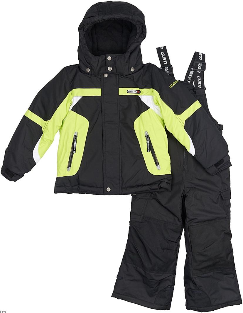 Комплект верхней одежды для мальчика Gusti, цвет: черный, желтый. GWB 3306-ACID LIME. Размер 96GWB 3306-ACID LIMEКомфортный и теплый комплект верхней одежды для девочки, состоящий из куртки и полукомбинезона, выполнен из мембранной ткани.Съемный капюшон на молниях с дополнительной утяжкой, спереди установлены две кнопки. Рукава с манжетами, регулируются липучкой. На куртке два кармана, застегивающиеся на молнию. Застежка-молния с внешней ветрозащитной планкой.Полукомбинезон на регулируемых подтяжках гарантирует посадку по фигуре. Колени, задняя поверхность бедер и низ брючин дополнительно усилены сверхпрочным материалом. Силиконовые отстегивающиеся штрипки на брючинах. Снегозащитная юбка фиксируется эластичным манжетом, предотвращая попадание снега внутрь. Модель оснащена светоотражающими элементами.