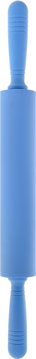 Скалка Доляна Севилья, цвет: голубой, 49 х 5,5 см118932_голубойСкалка - необходимый на кухне предмет. Скалка Доляна Севилья, изготовленная из пластика с силиконовым покрытием представляет собой усовершенствованную версию привычного инструмента. Яркий дизайн делает предмет украшением арсенала каждого повара. Готовку облегчают удобные ручки.