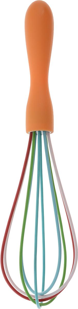 Венчик Доляна Профи, цвет: оранжевый, голубой, зеленый, длина 24 см1128817_оранжевыйВенчик Доляна Профи изготовлен из силикона и пластика.Венчик является необходимым помощником каждого повара. Простое и надежное изделие служит аналогом миксера и блендера и предназначено для взбивания различных продуктов. Венчик прост в обращении и не требует затрат электроэнергии. Кроме того, изделие легко моется и при аккуратном использовании имеет неограниченный срок годности.Длина венчика: 24 см.Размеры рабочей части: 5 х 5 см.