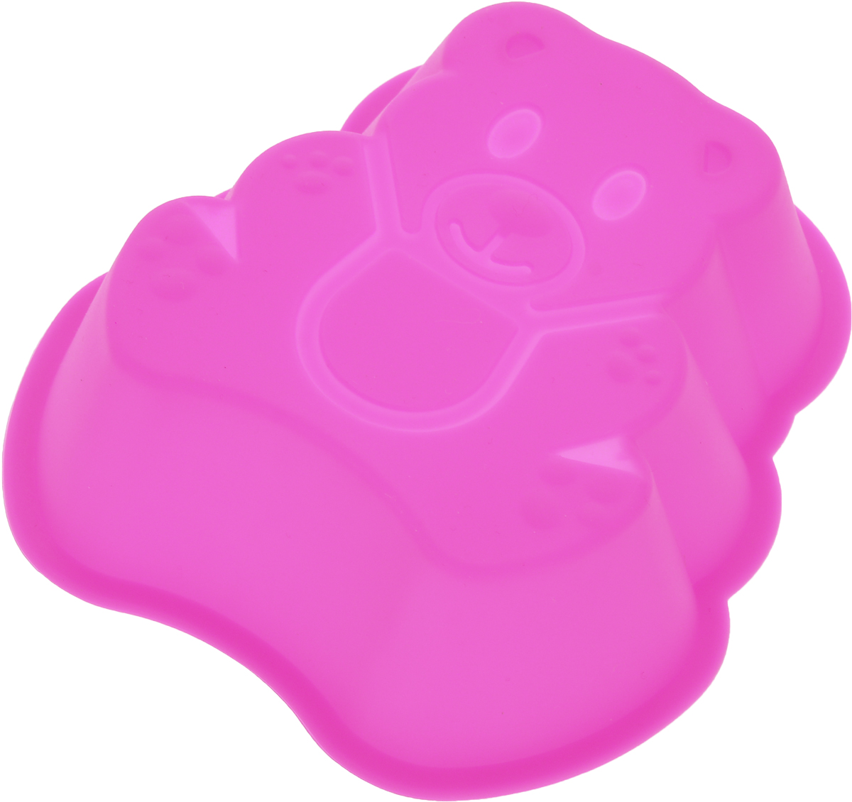 Форма для выпечки Доляна Мишка, силиконовая, цвет: розовый, 13,5 х 11,5 х 3,5 см1000365_розовыйФорма Доляна Мишка, выполненная из силикона, будет отличным выбором для всех любителей домашней выпечки. Силиконовые формы для выпечки имеют множество преимуществ по сравнению с традиционными металлическими формами и противнями. Нет необходимости смазывать форму маслом. Форма быстро нагревается, равномерно пропекает, не допускает подгорания выпечки с краев или снизу.Вынимать продукты из формы очень легко. Слегка выверните края формы или оттяните в сторону, и ваша выпечка легко выскользнет из формы.Материал устойчив к фруктовым кислотам, не ржавеет, на нем не образуются пятна.Форма может быть использована в духовках и микроволновых печах (выдерживает температуру от -40°С до +250°С), также ее можно помещать в морозильную камеру и холодильник. Можно мыть в посудомоечной машине.Размер формы: 13,5 х 11,5 х 3,5 см.