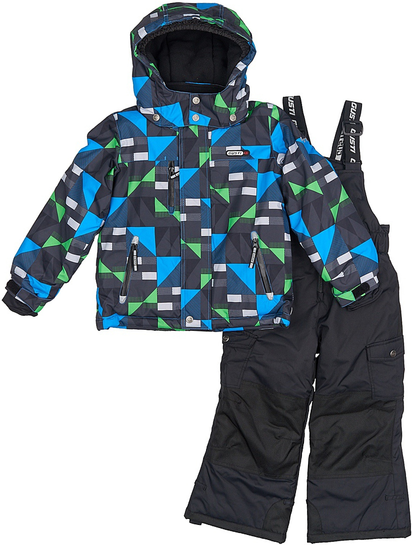 Комплект верхней одежды для мальчика Gusti, цвет: синий. GWB 3311-BRILLIANT BLUE. Размер 112GWB 3311-BRILLIANT BLUEКомфортный и теплый комплект верхней одежды, состоящий из куртки и полукомбинезона, выполнен из мембранной ткани.Съемный капюшон на кнопках с дополнительной утяжкой, спереди установлены две кнопки. Рукава с манжетами, регулируются липучкой. На куртке два кармана, застегивающиеся на молнию и два накладных кармана на кнопках. Застежка-молния с внешней ветрозащитной планкой.Полукомбинезон на регулируемых подтяжках гарантирует посадку по фигуре. Силиконовые отстегивающиеся штрипки на брючинах. Снегозащитная юбка фиксируется эластичным манжетом, предотвращая попадание снега внутрь. Модель оснащена светоотражающими элементами.