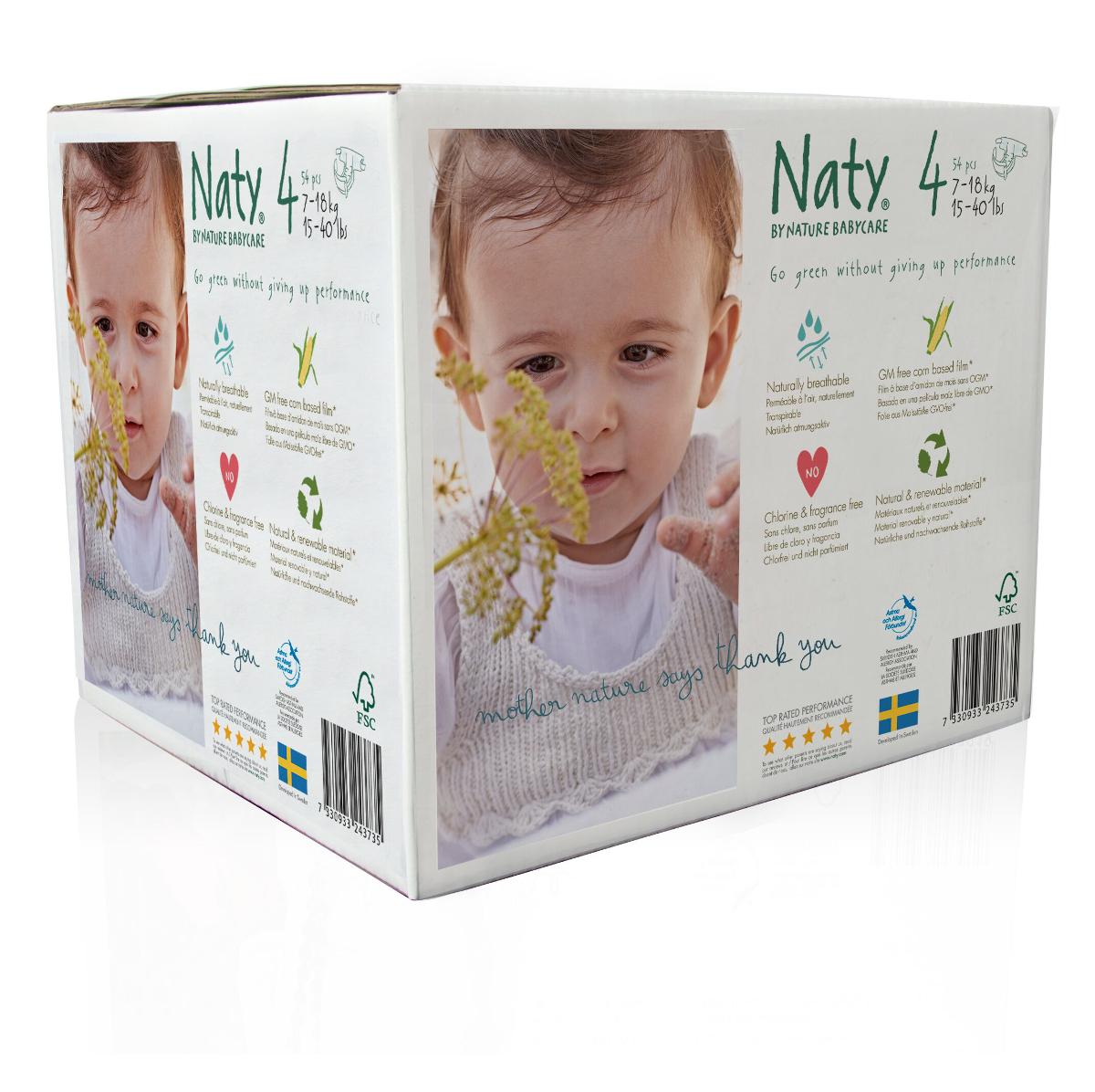 Naty Подгузники 7-18 кг (размер 4) эконом-бокс 54 шт тод данкан продажи на основе высокого доверия