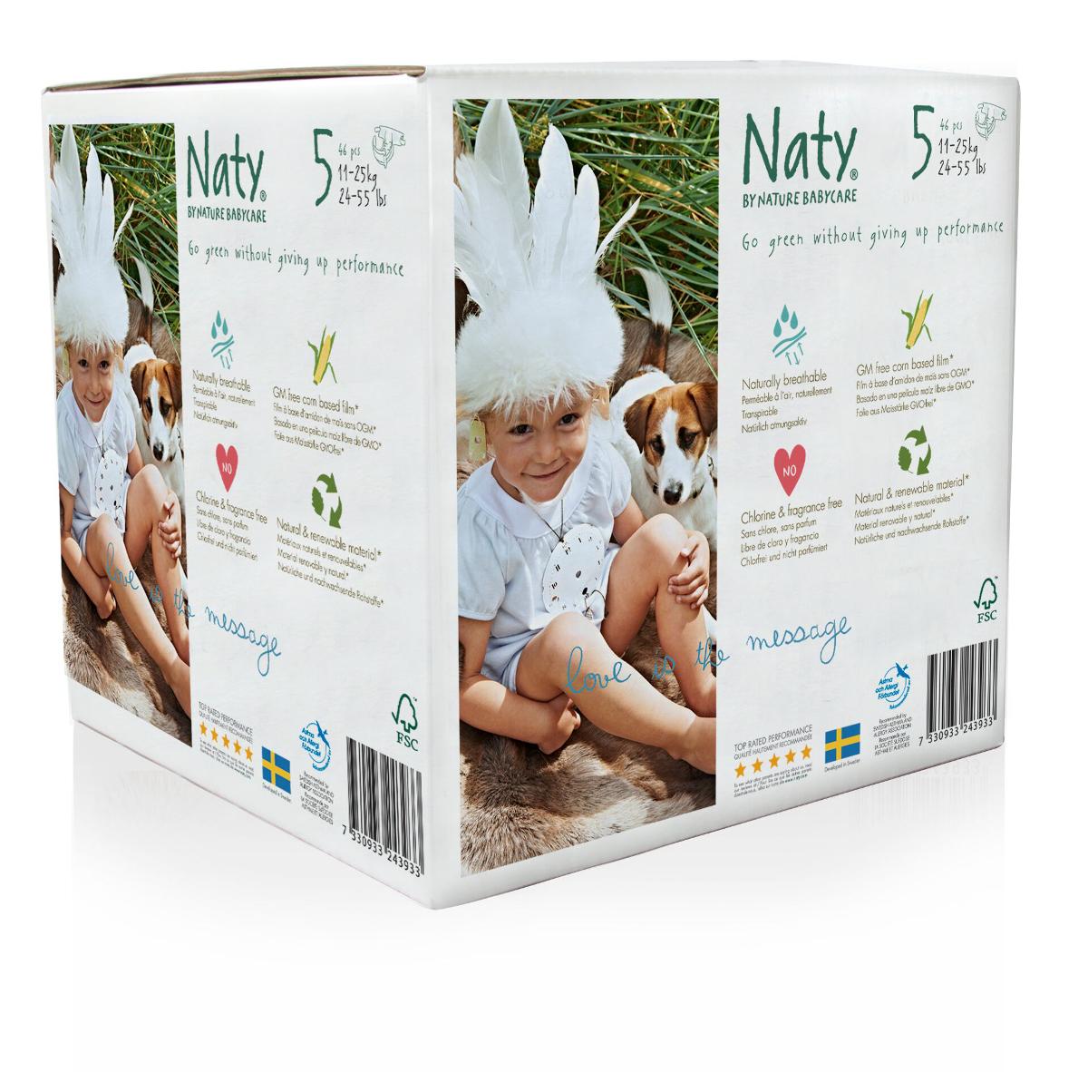 Naty Подгузники 11-25 кг (размер 5) 46 шт - Подгузники и пеленки