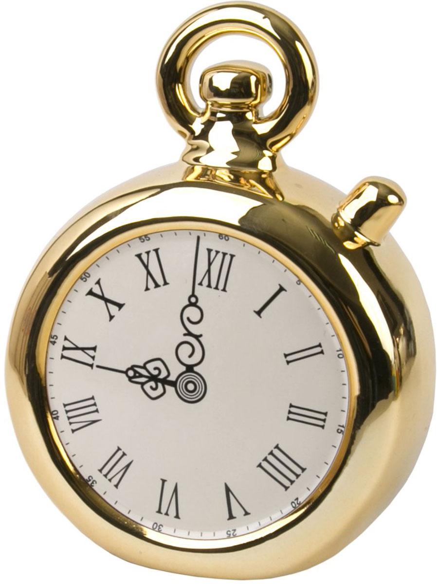 Копилка декоративная Magic Time Часы, цвет: золотой, 12 х 5,7 х 15,8 см76320Декоративная копилка Часы от Magic Home - это отличный вариант подарка для ваших близких и друзей. Стильная и оригинальная она наполнит процесс накопления денег позитивными моментами. Керамическая копилка станет прекрасным дополнением интерьера дома или офиса. Фигурку можно поставить в любом месте, где она будет удачно смотреться и радовать глаз.