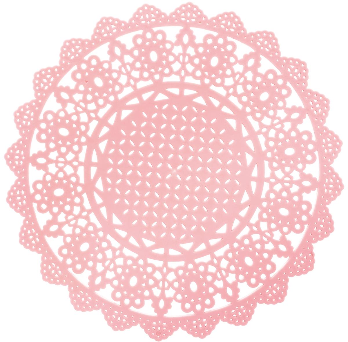 Подставка под горячее Доляна Ажур, силиконовая, цвет: розовый, диаметр 20 см1153295_розовыйПодставка под горячее Доляна Ажур изготовлена из силикона. Материал позволяет выдерживать высокие температуры (от +40°С до +250°С) и не скользит по поверхности стола.Каждая хозяйка знает, что подставка под горячее - это незаменимый и очень полезный аксессуар на каждой кухне. Ваш стол будет не только украшен яркой и оригинальной подставкой, но и сбережен от воздействия высоких температур.Размеры: 20 х 20 х 0,2 см.