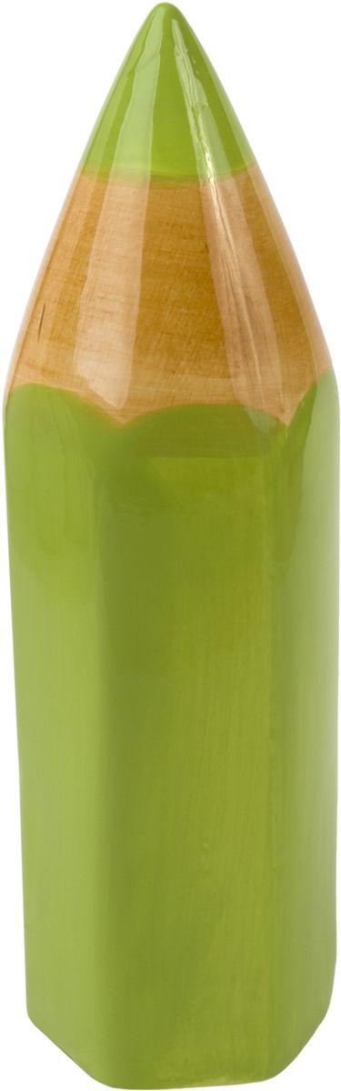 Копилка декоративная Magic Time Карандаш, цвет: зеленый, 24 х 7 см76554Декоративная копилка Карандаш от Magic Home - это отличный вариант подарка для ваших близких и друзей. Стильная и оригинальная она наполнит процесс накопления денег позитивными моментами. Керамическая копилка станет прекрасным дополнением интерьера дома или офиса. Фигурку можно поставить в любом месте, где она будет удачно смотреться и радовать глаз.