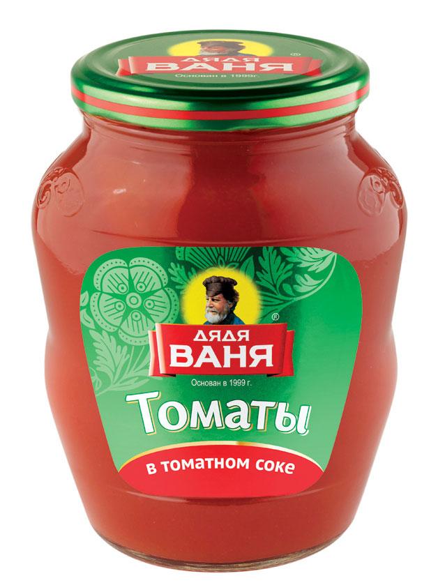 Дядя Ваня томаты в томатном соке неочищенные, 680 г огородников томаты маринованные 680 г