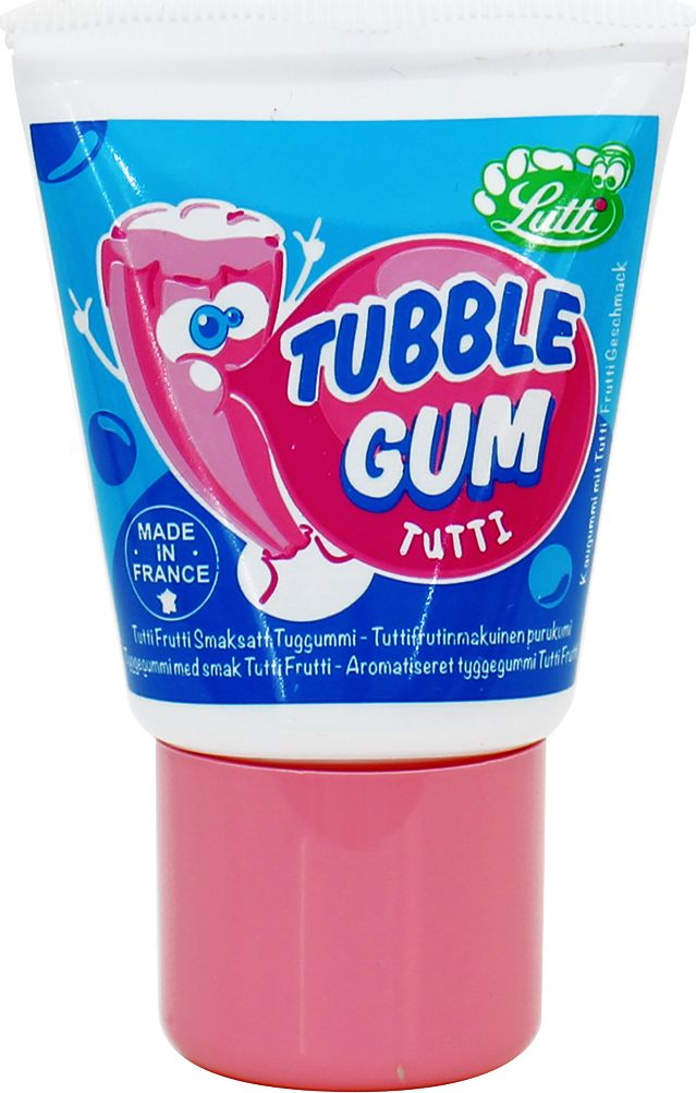 Tubble Gum Tutti Frutti жеательная резинка тюбике со кусом тутти-фрутти, 35 г
