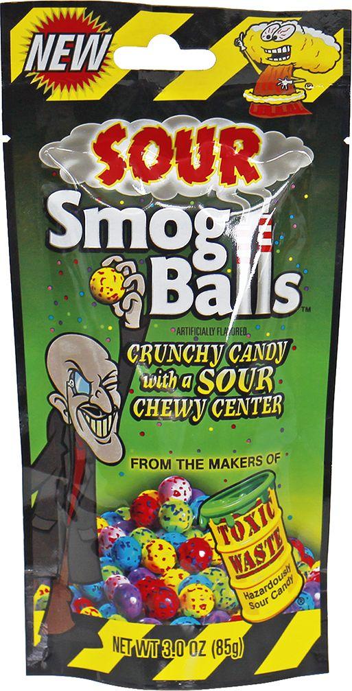 Toxic Sour Smog Balls кислые конфеты, 48 г89894210016САМЫЕ КИСЛЫЕ КОНФЕТЫ TOXIC SOUR SMOG BALLS Удивительная американская новинка - кислотные шарики Smog Balls от Токсик Вейст. Увлекательный американский десерт предназначен для сильных духом. Вкусы на столько реалистичны, что сразу невозможно определить, что вы держите на языке свежие фрукты или конфету. ВКУСЫ SOUR BALLS:клубникаголубикалимонлаймвишнявиноградХотите устроить веселый вечер? Тогда принесите в вашу компанию пачку этих кислых конфет, проверьте, кто самый стойкий. Вас удивит не только фантастически реалистичные вкусы, но и чудовищная кислота! Сердцевина этих конфет нереально кислая.