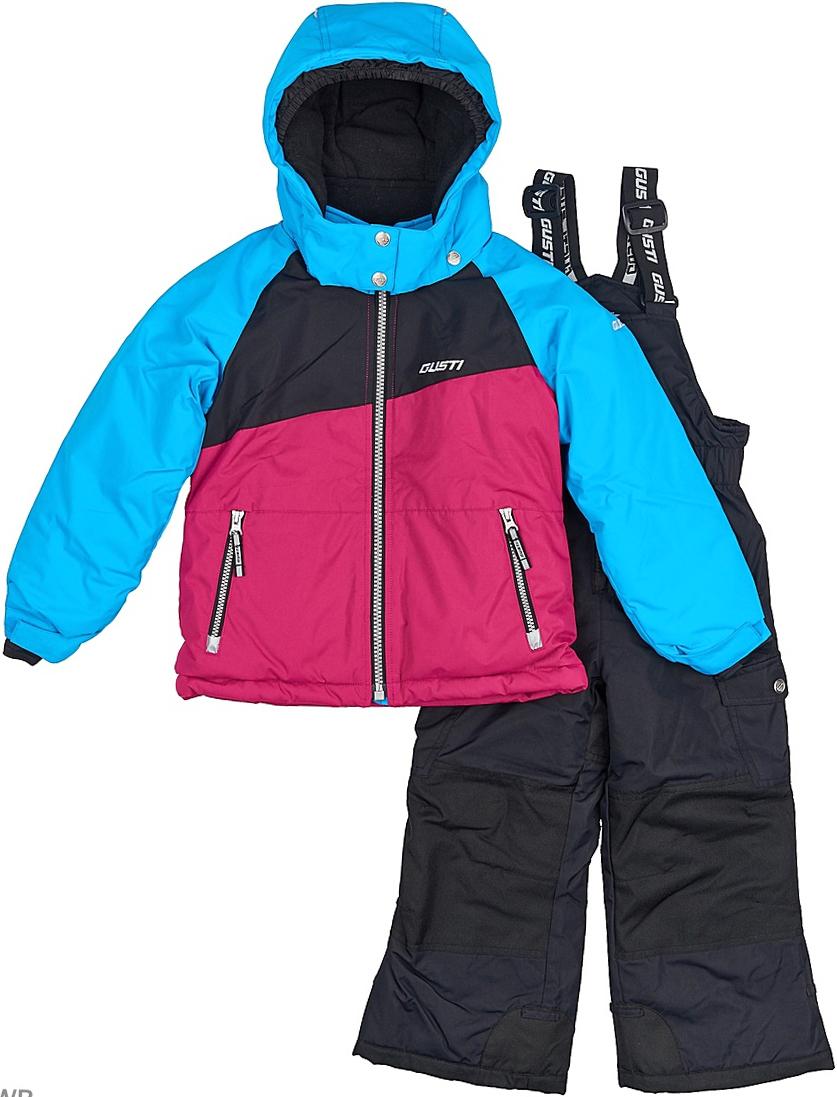 Комплект верхней одежды для девочки Gusti: куртка, полукомбинезон, цвет: голубой, розовый, черный. GWG 3290-ATOMIC BLUE. Размер 150GWG 3290-ATOMIC BLUEКомфортный и теплый комплект верхней одежды для девочки, состоящий изкуртки и полукомбинезона, выполнен из мембранной ткани.Съемныйкапюшон на молниях с дополнительной утяжкой, спереди установлены две кнопки.Рукава с манжетами, регулируются липучкой. На куртке два кармана,застегивающиеся на молнию. Застежка-молния с внешней ветрозащитной планкой. Полукомбинезон на регулируемых подтяжках гарантирует посадку по фигуре.Колени, задняя поверхность бедер и низ брючин дополнительно усиленысверхпрочным материалом. Снегозащитная юбка фиксируется эластичным манжетом, предотвращая попадание снега внутрь.Силиконовые отстегивающиеся штрипки на брючинах.Модель оснащена светоотражающими элементами.