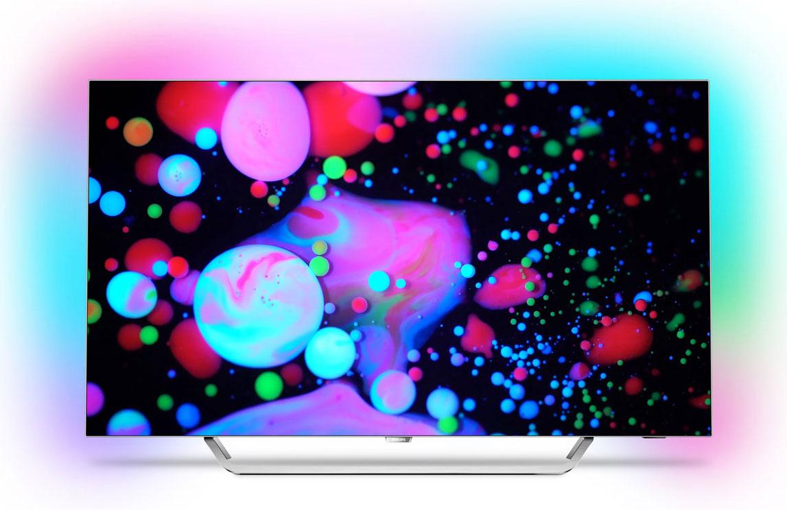 Philips 55POS9002/12 телевизор497732В телевизоре Philips 55POS9002/12 продумана каждая деталь: вы можете наслаждаться более глубокими оттенками черного и выразительными цветами при разрешении 4K Ultra HD. Android TV и процессор P5 предоставляют бесконечные возможности.Новая технология Philips P5 преобразует любой контент, который вы просматриваете, при помощи современного цифрового алгоритма. Благодаря высокой производительности процессора P5 обеспечивается качественное изображение, улучшенное на 50%. Теперь вы можете оценить глубокие оттенки черного, наиболее яркие оттенки белого цвета, насыщенные и живые цвета, а также передачу естественного цвета кожи. В любое время и при любом источнике — невероятно четкое изображение с поразительной детализацией и глубиной для любых жанров, независимо от того, смотрите ли вы спортивную программу или художественный фильм.Благодаря магазину Google Play и галерее приложений Philips на телевизор можно загрузить обширную онлайн-коллекцию фильмов, телепередач, музыки, приложений и игр. 16 ГБ расширяемой памяти позволят сохранять избранный контент и устанавливать приложения, не беспокоясь о нехватке свободного места.Вы приложили все усилия, чтобы сделать дом уютным и комфортным. Почему же не выбрать телевизор, который подчеркнет изящный дизайн интерьера? Уникальная технология Philips Ambilight визуально расширяет границы экрана и усиливает впечатления от просмотра за счет проекции светового ореола по двум сторонам от экрана. Эта технология увеличивает яркость и насыщенность красок, позволяя полностью погрузиться в происходящее на экране.Расширенный динамический диапазон HDR Perfect — стандарт качества, повышающий контрастность и улучшающий цветопередачу на различных системах домашних развлечений. Оцените неповторимые ощущения при просмотре фильмов с естественным отображением цветов — в точном соответствии с задумкой режиссера. Теперь светлые участки становятся еще ярче, повышается контрастность, обеспечивается превосходная цветопереда