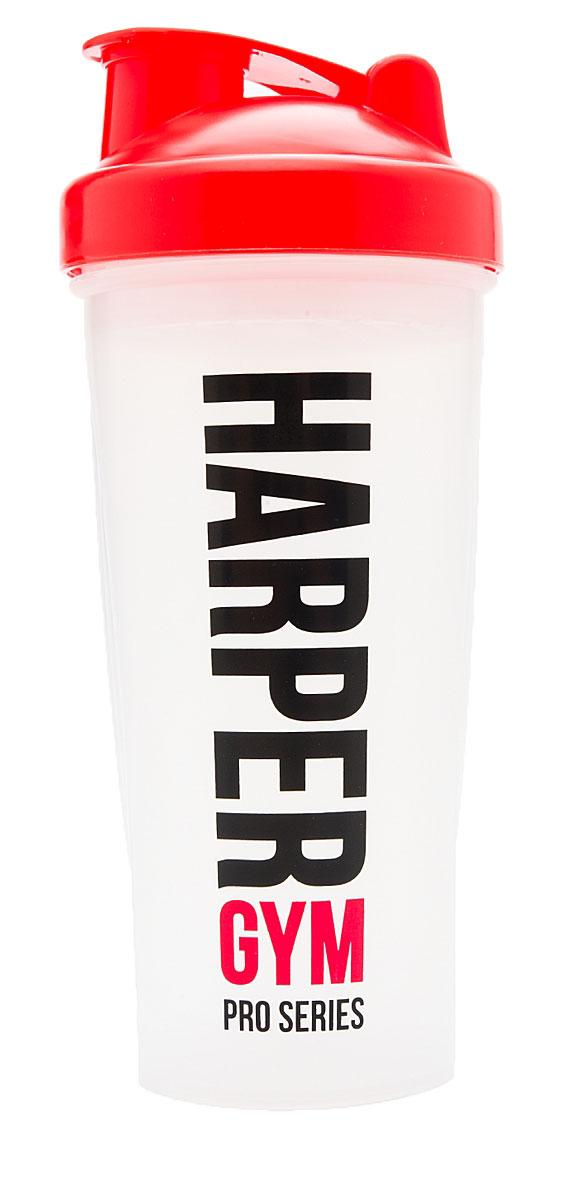 Шейкер Harper Gym, цвет: прозрачный, красный, 700 мл