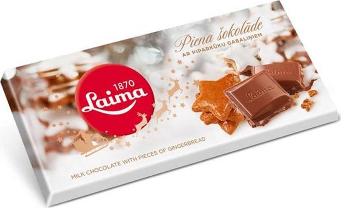 Laima молочный шоколад с имбирным печеньем, 100 гP120106511Молочный шоколад с кусочками имбирного печенья