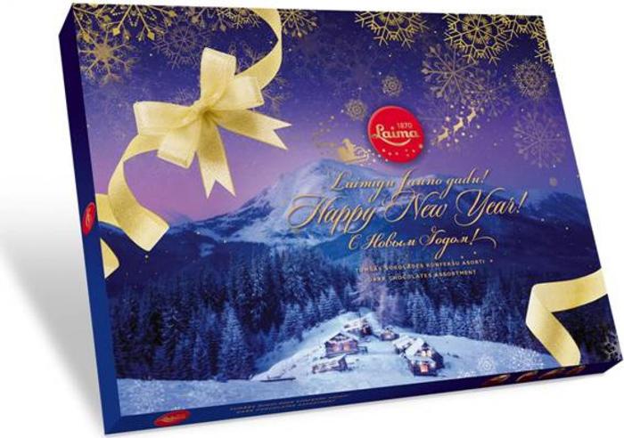 Laima Зимняя ночь ассорти шоколадных конфет в темном шоколаде, 720 г laima ассорти с ягодными начинками 210 г