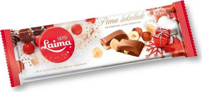 Laima молочный шоколад с цельным фундуком, 220 г райская птица молочный шоколад 38% с клубникой 85 г